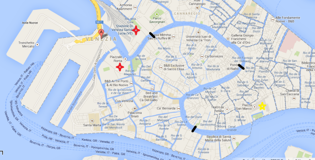Mapa Veneza